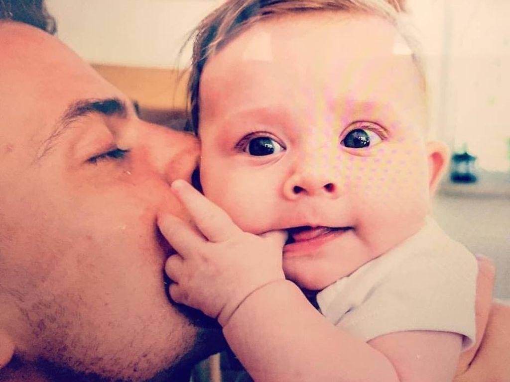 Rocco Stark und Tochter Amelia als Baby