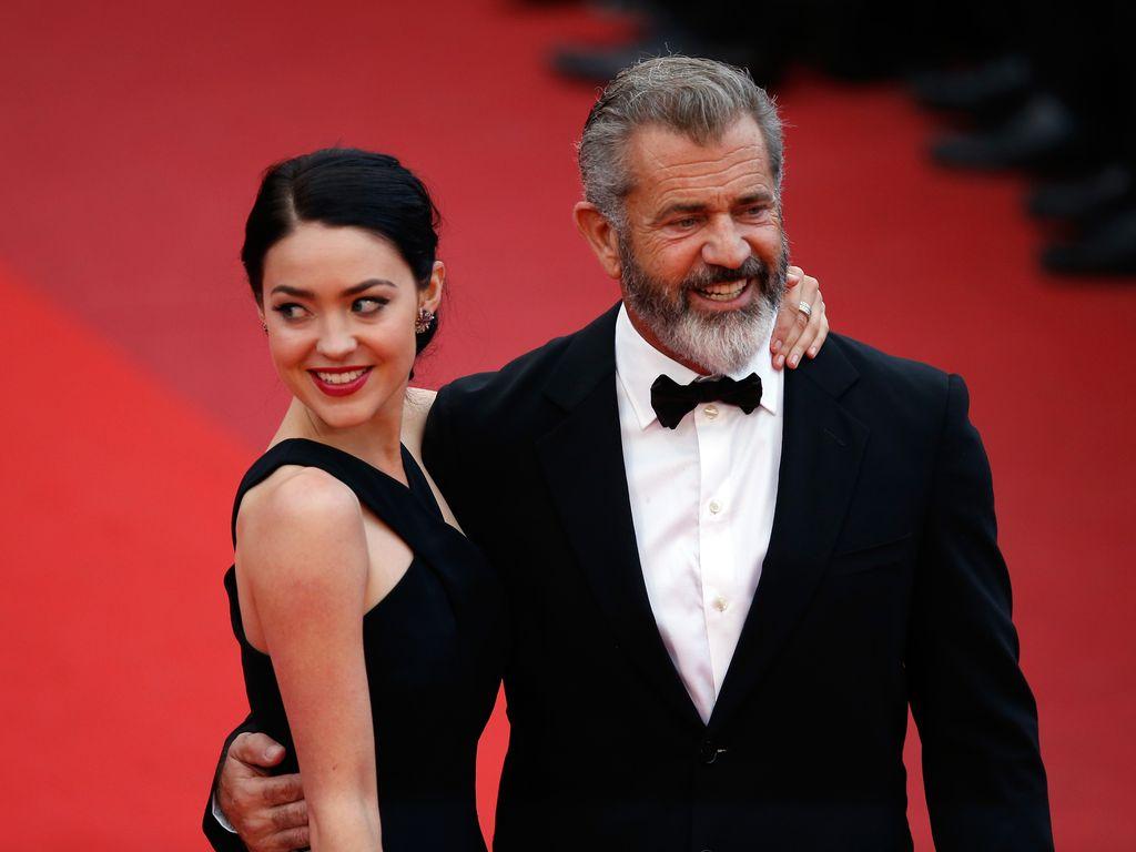 Rosalind Ross und Mel Gibson in Cannes