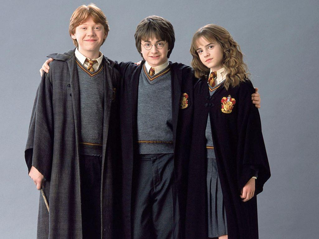 "Rupert Grint, Daniel Radcliffe und Emma Watson bei ""Harry Potter"""