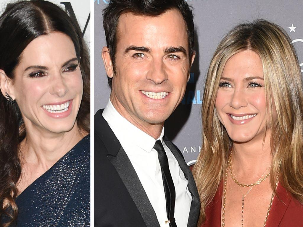 Jennifer Aniston, Justin Theroux und Sandra Bullock