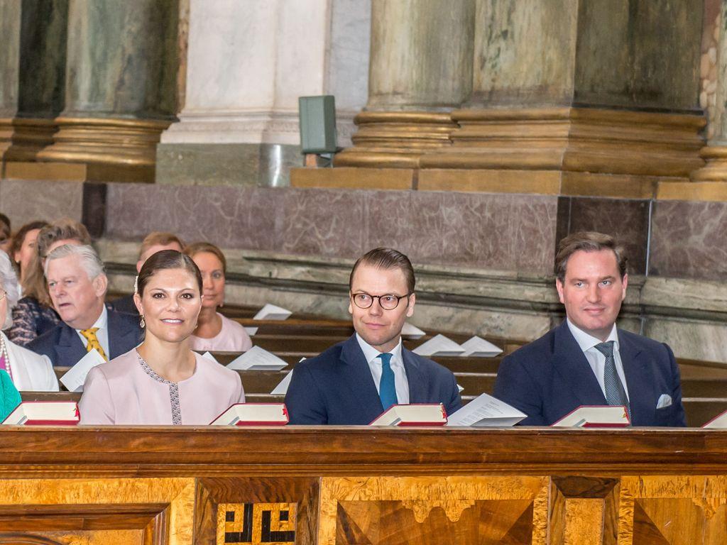 Prinzessin Victoria von Schweden, Königin Silvia von Schweden, Carl Gustaf und Christopher O'Neill
