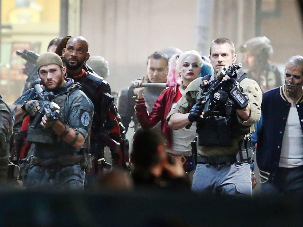 Will Smith, Scott Eastwood, Margot Robbie und Joel Kinnaman