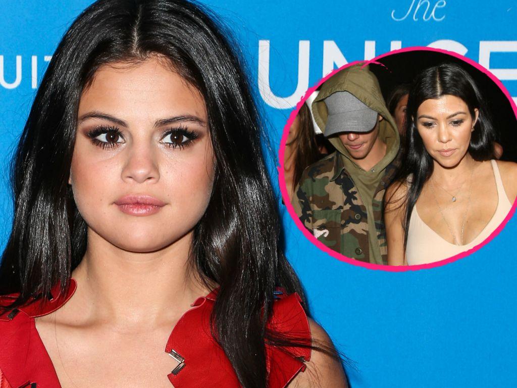 Selena Gomez, Justin Bieber und Kourtney Kardashian