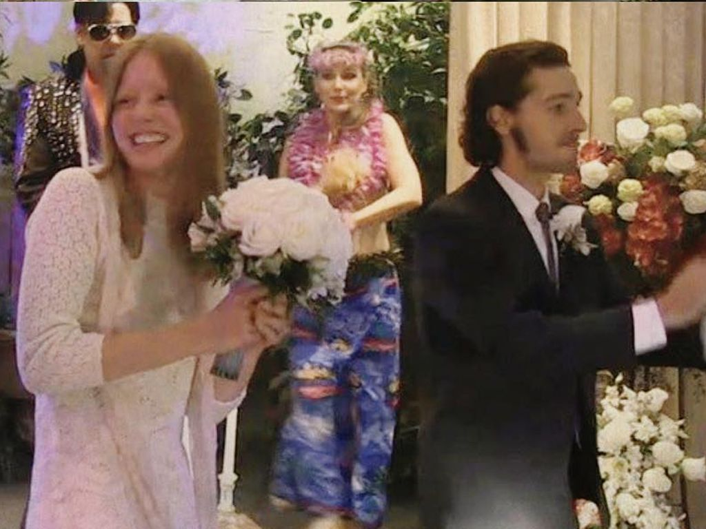 Shia LaBeouf und Mia Goth bei ihrer Hochzeit