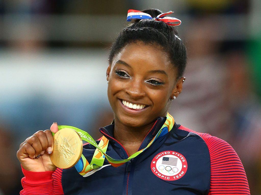 Simone Biles bei den Olympischen Spielen 2016 in Rio