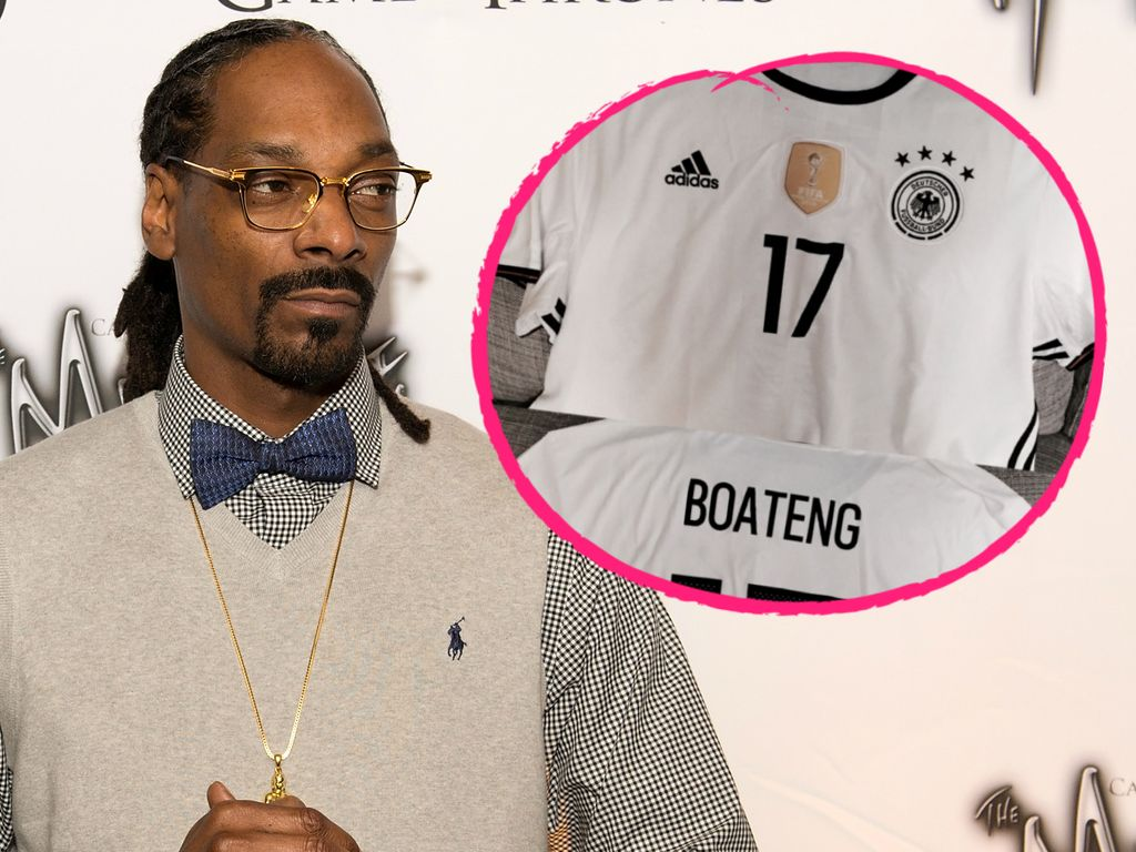 Snoop Dogg mit Jérôme Boateng-Trikot