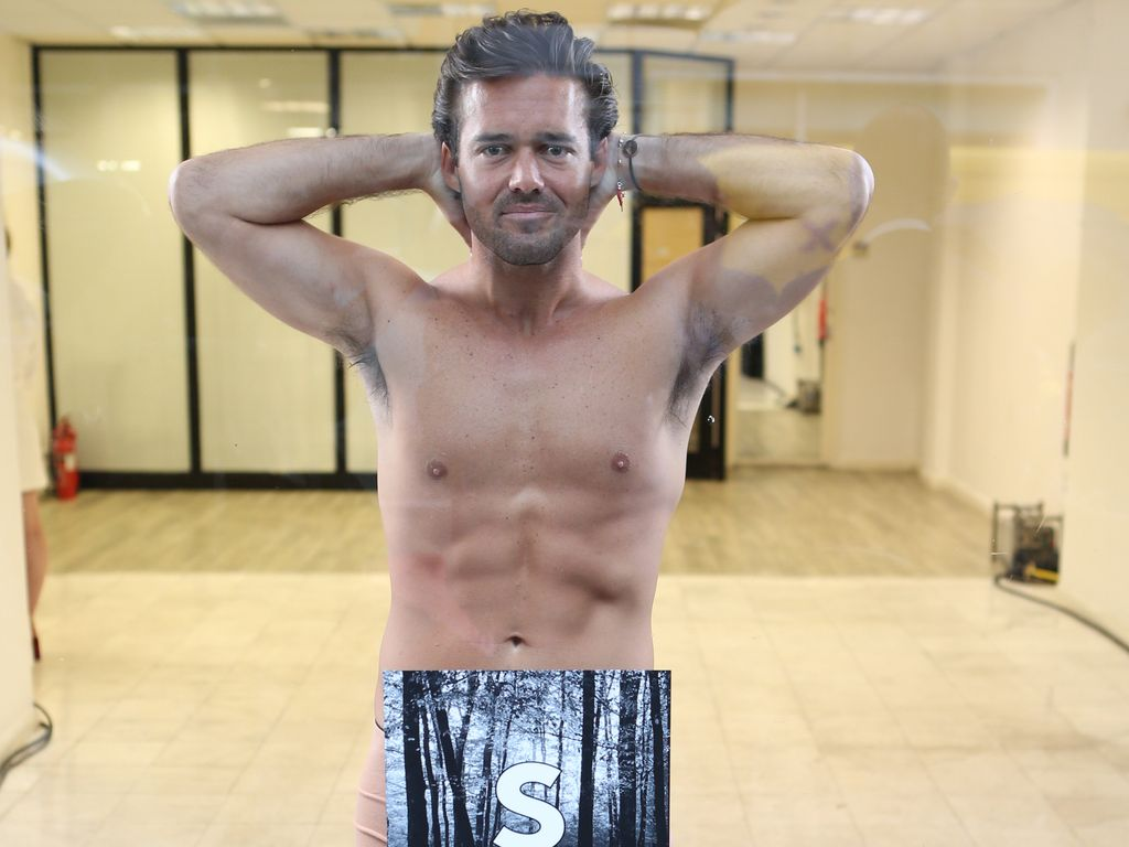 Spencer Matthews in einem Schaufenster in London
