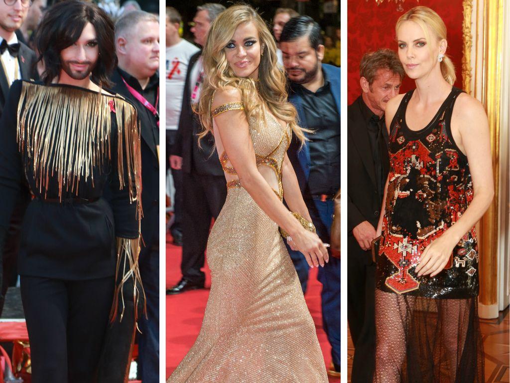 Charlize Theron, Carmen Electra und Conchita Wurst