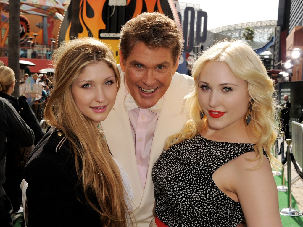 David Hasselhoff, Taylor Ann Hasselhoff und Hayley Hasselhoff