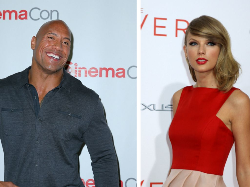 "Taylor Swift und Dwayne ""The Rock"" Johnson"