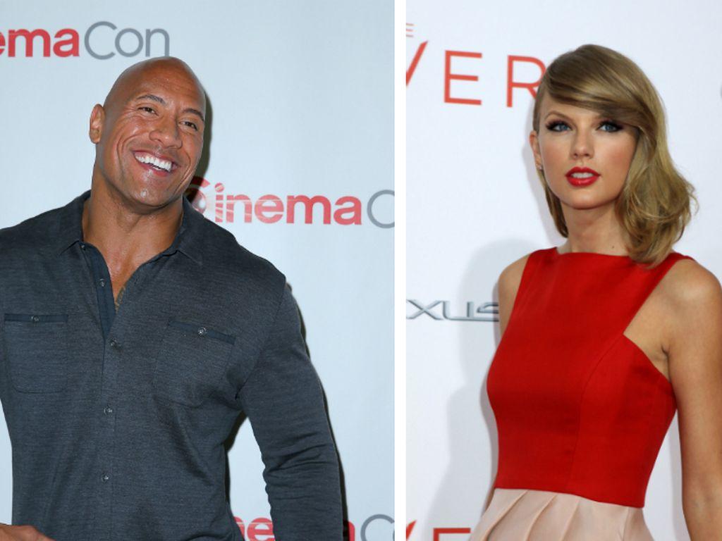 "Taylor Swift und Dwayne ""The Rock"" Johnson"