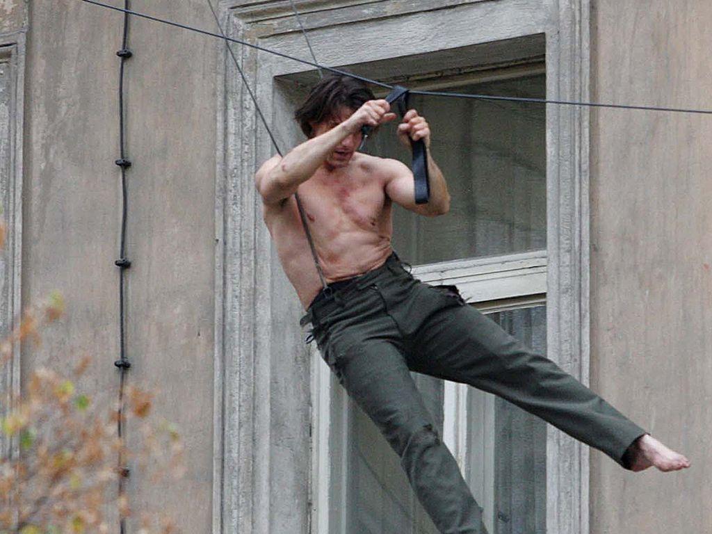 Tom Cruise bei einem Stunt-Dreh