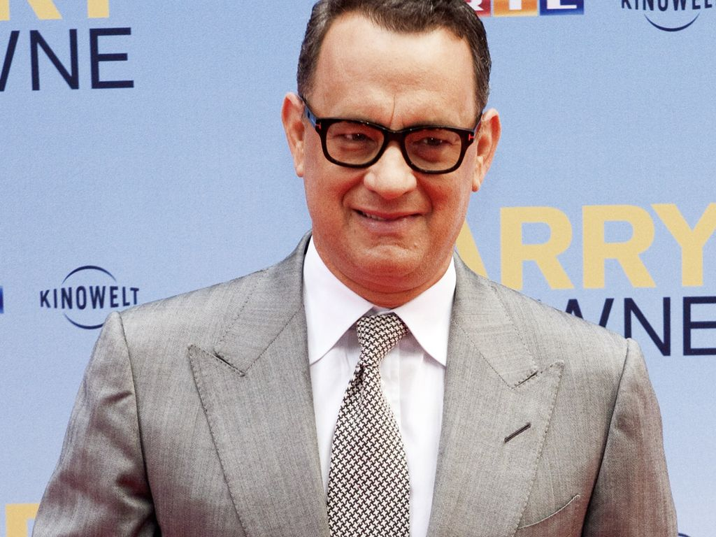 "Tom Hanks promotet ""Larry Crown"""