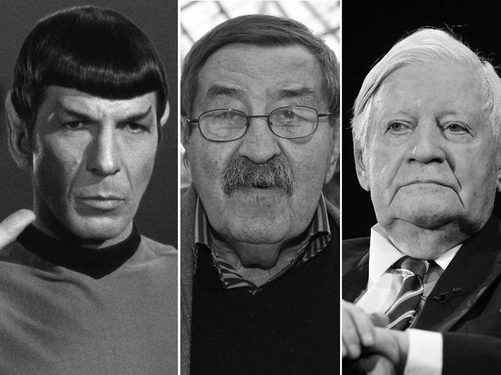 Helmut Schmidt, Günther Grass und Leonard Nimoy