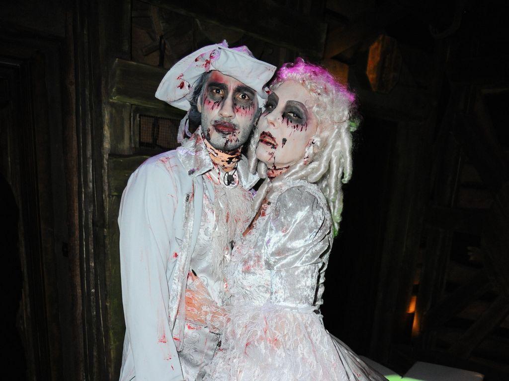 Umut Kekilli und Natascha Ochsenknecht an Halloween 2015