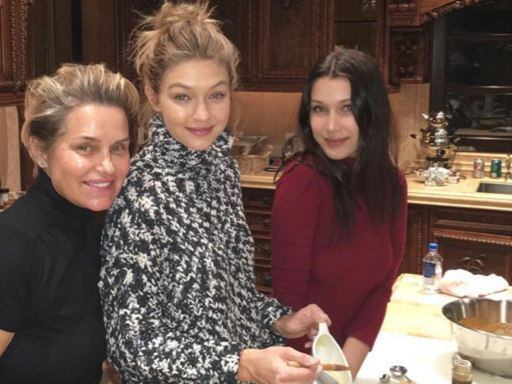 Gigi Hadid, Bella Hadid und Yolanda Foster