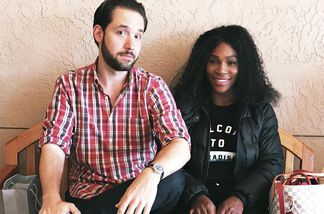 Alexis Ohanian und Serena Williams