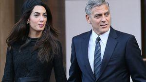 Amal und George Clooney in Rom