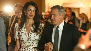 Amal und George Clooney bei einem UN-Meeting