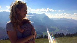 Angela Finger-Erben mit ihrer Tochter Anna im Bayern-Urlaub
