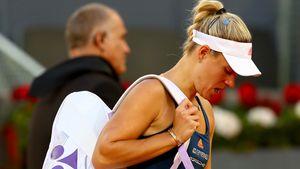Angelique Kerber beim Turnier in Madrid