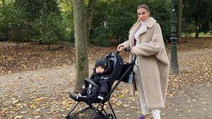 Mit Baby Rome: Ann-Kathrin Götze im stylishen Herbstlook