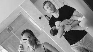 Erstes Familienbild: André Schürrle wiegt Baby in den Schlaf