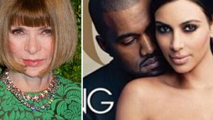 Kim Kardashian, Kanye West und Anna Wintour