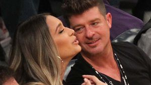 1. Date ohne Kind: Robin Thicke turtelt mit Neu-Mama April