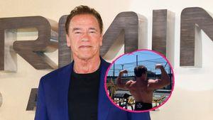Heiß! Arnie Schwarzenegger bekommt Mucki-Konkurrenz von Sohn