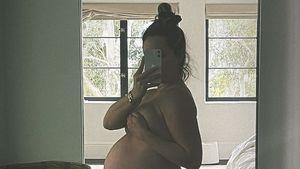 Mit XXL-Babybauch: Ashley Tisdale ruft zur Selbstliebe auf