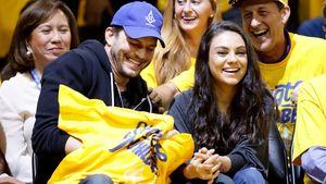 Ashton Kutcher und Mila Kunis beim 2. Spiel der NBA Finals 2016