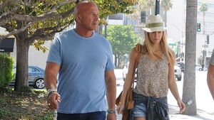 Supermodel Bar Refaeli mit ihrem Vater Rafael unterwegs in Beverly Hills