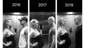 Süßer Throwback: Bar Refaeli teilt identische Schwanger-Pics