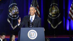 Barack Obama bei seiner Abschiedsrede