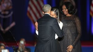 Barack Obamas letzte Rede: Darum fehlte Tochter Sasha!