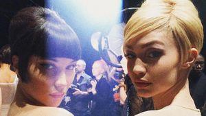 Bella und Gigi Hadid bei der Mailänder Fashion Week