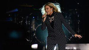Beyoncé Knowles während eines Konzerts
