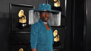 XXL-Glamour-Hut: Billy Porter im Glitter-Look bei Grammys