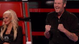 Blake Shelton und Christina Aguilera