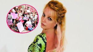Vor Gerichtsgebäude: So wird Britney von Fans unterstützt!