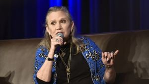 Carrie Fisher bei der Comic Con