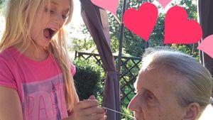 Cathy Lugners Tochter Leonie und ihre Großmutter