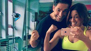 "Christian Polanc und Vanessa Mai beim ""Let's Dance""-Training"