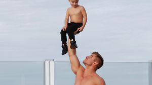 Cirque-du-Soleil-Akrobat Wayne Skivington mit seinem Sohn Rowan