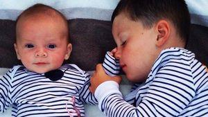 Süße Bilder! Coleen Rooneys Babys im Partnerlook