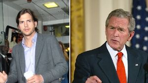 Ashton Kutcher und George W. Bush