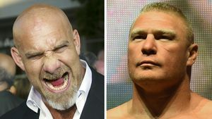 Bill Goldberg und Brock Lesnar, WWE-Superstars