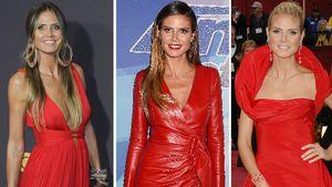 Wow Heidi, was für ein Kleid! Ist Rot ihre Lieblingsfarbe?
