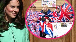 Kates Baby-Countdown: Fans warten schon vor der Klinik!